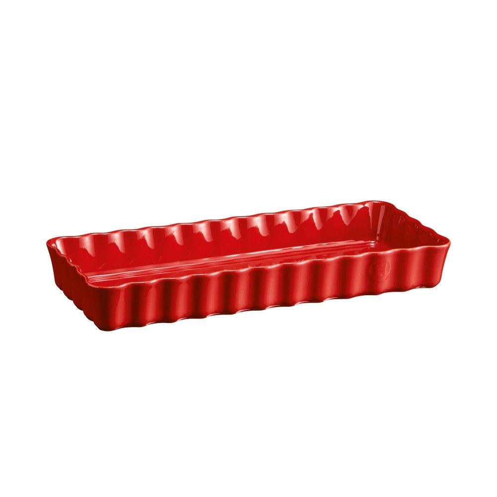 Форма для выпечки пирога прямоугольная Emile Henry 36х15 см, цвет гранат