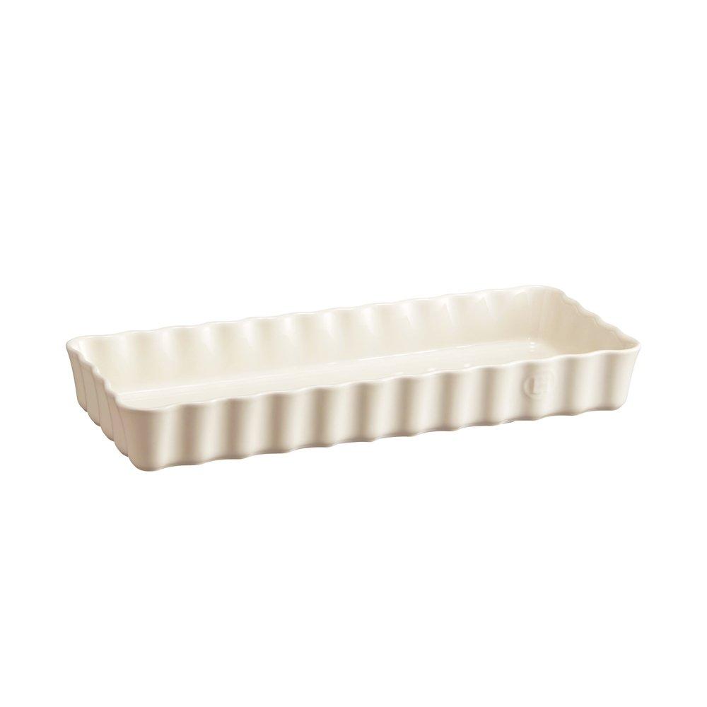 Форма для пирога прямоугольная, 15х36 см Emile Henry, (цвет: крем)
