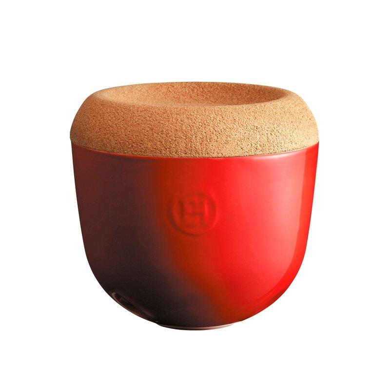Емкость Emile Henry для хранения чеснока, цвет гранат
