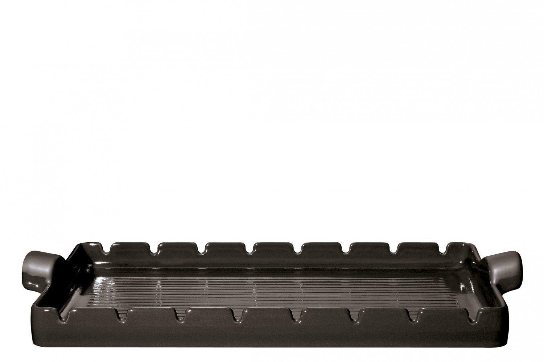 Барбекю-гриль 42x25 см (цвет: базальт) Emile Henry
