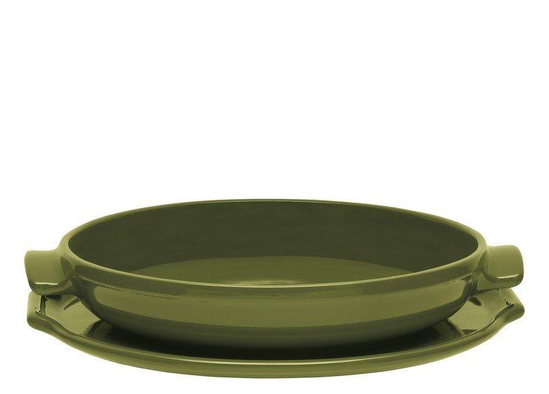 Набор для выпечки пирога Татен 30 см (цвет: оливковый) Emile Henry