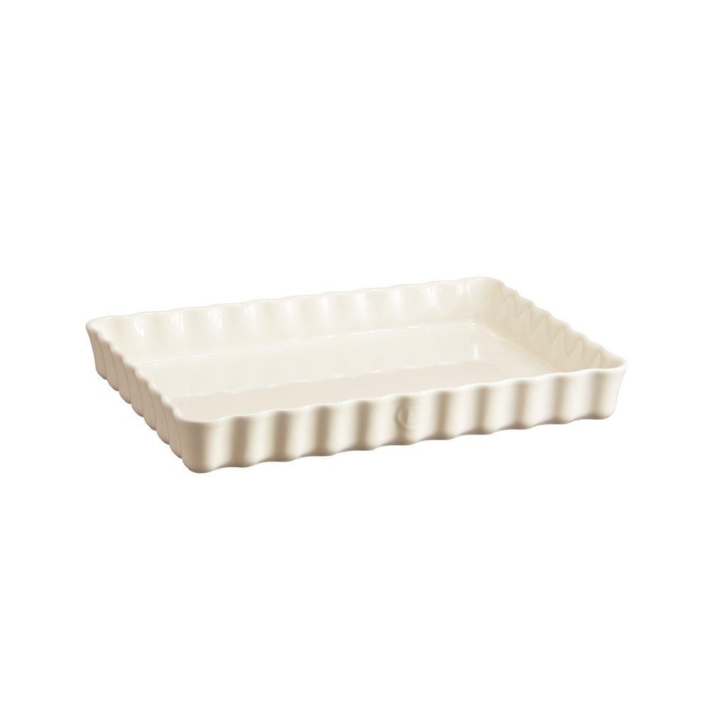 Форма для пирога прямоугольная, 24х34 см Emile Henry (цвет: крем)