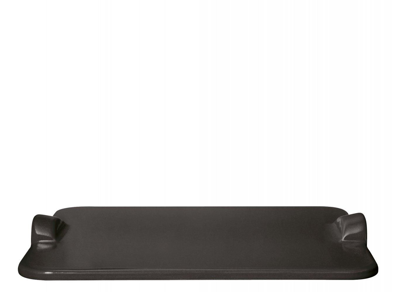 Камень для пиццы 30*35см (для подачи и приготовления) Emile Henry, черный уголь