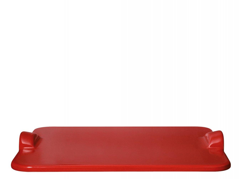 Камень для пиццы 30*35см (для подачи и приготовления) Emile Henry, гранат