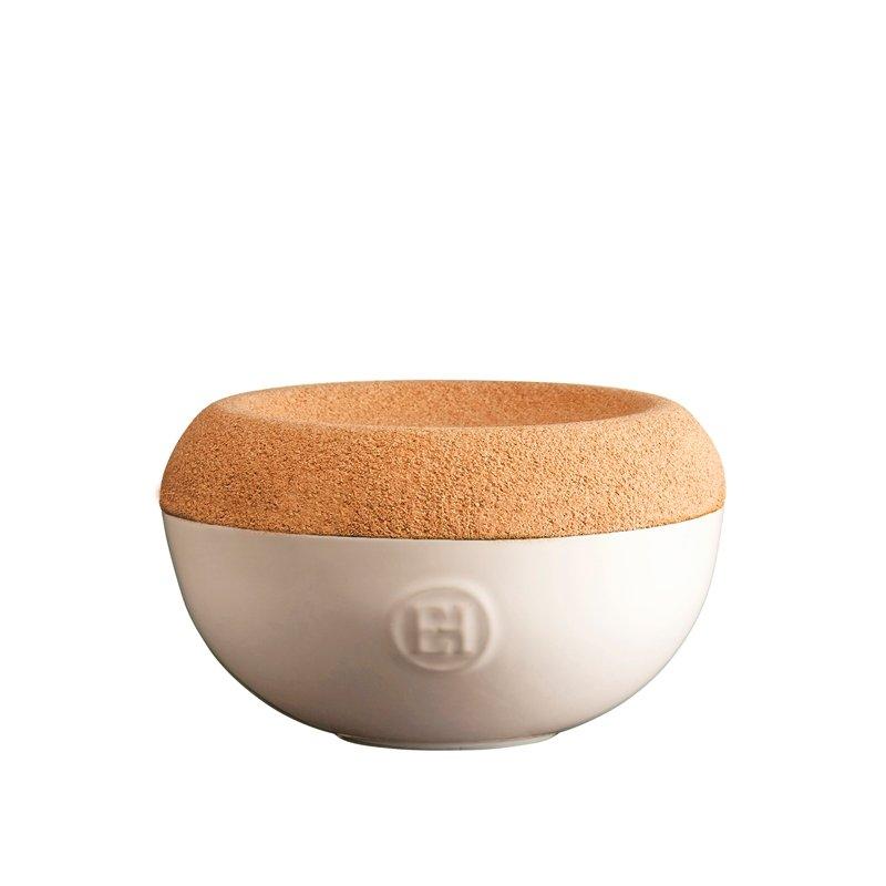Емкость Emile Henry для хранения соли, цвет крем