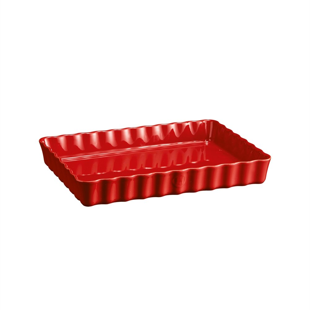 Форма для пирога прямоугольная, 24х34 см Emile Henry (цвет: гранат)