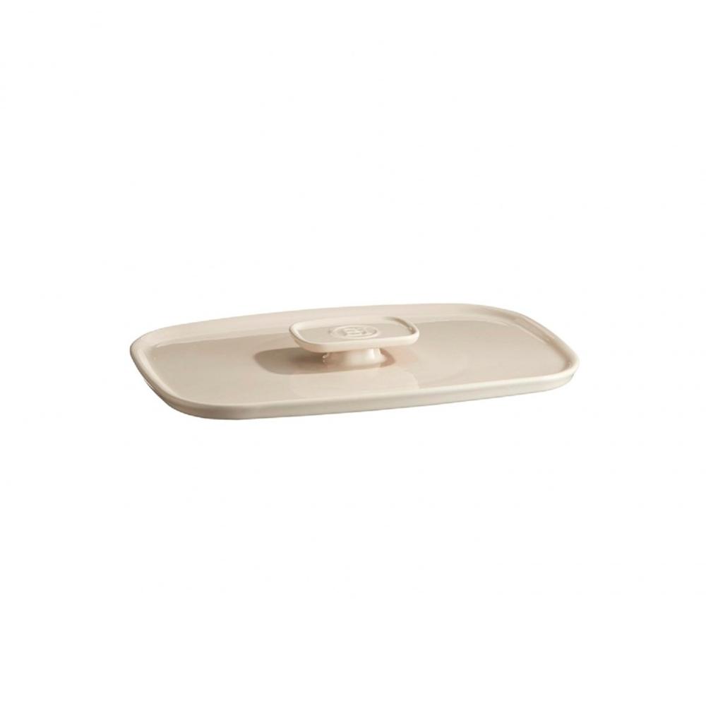 Крышка малая 25x18x3 см к форме Emile Henry (арт. 029650), цвет крем