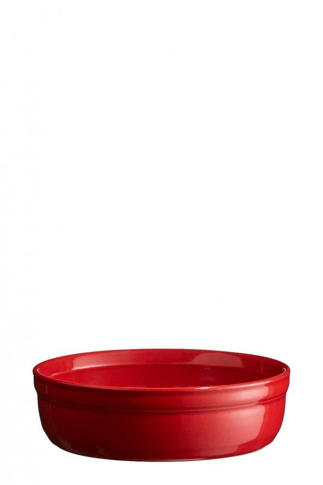 Рамекин, низкая порционная форма Emile Henry 12 см (цвет: гранат)