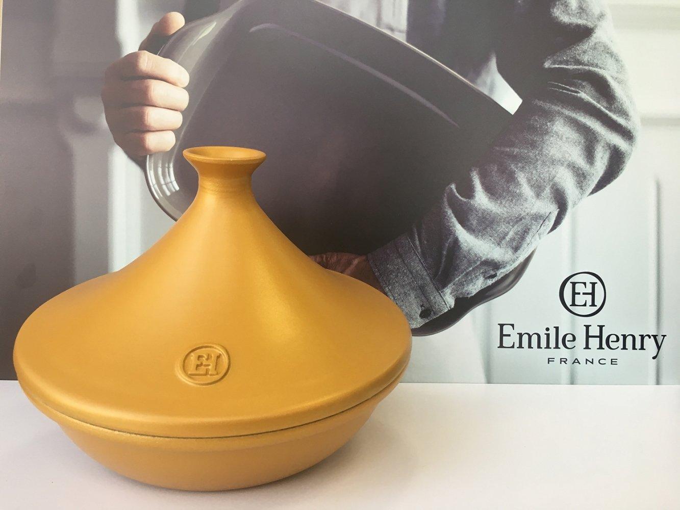 Тажин керамический Emile Henry золотой 3,5л 32см, лимитированный выпуск