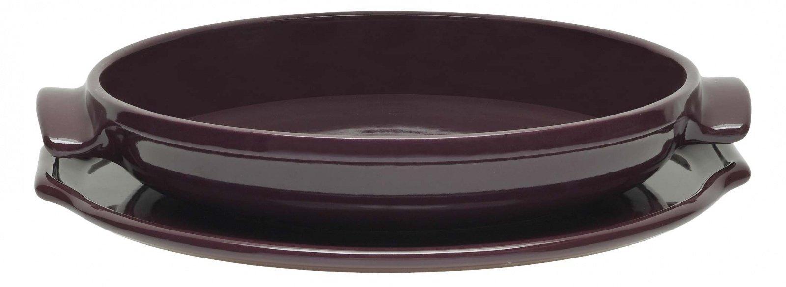 Набор для выпечки пирога Татен  30 см (цвет: инжир) Emile Henry