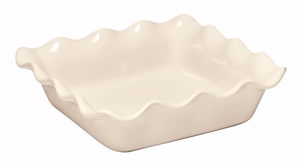 Форма для запекания квадратная 24х24 см (цвет: крем) Emile Henry