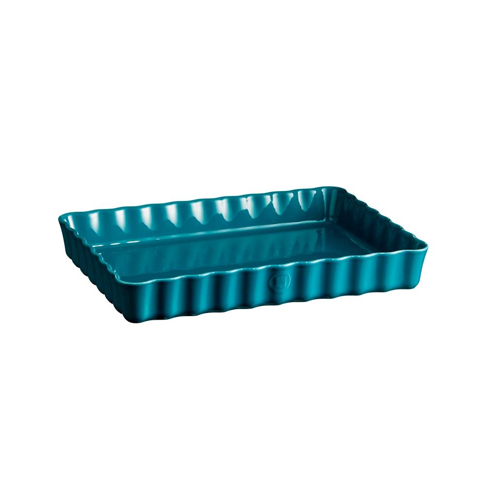 Форма для пирога прямоугольная 24х34 см Emile Henry (цвет: лазурь)